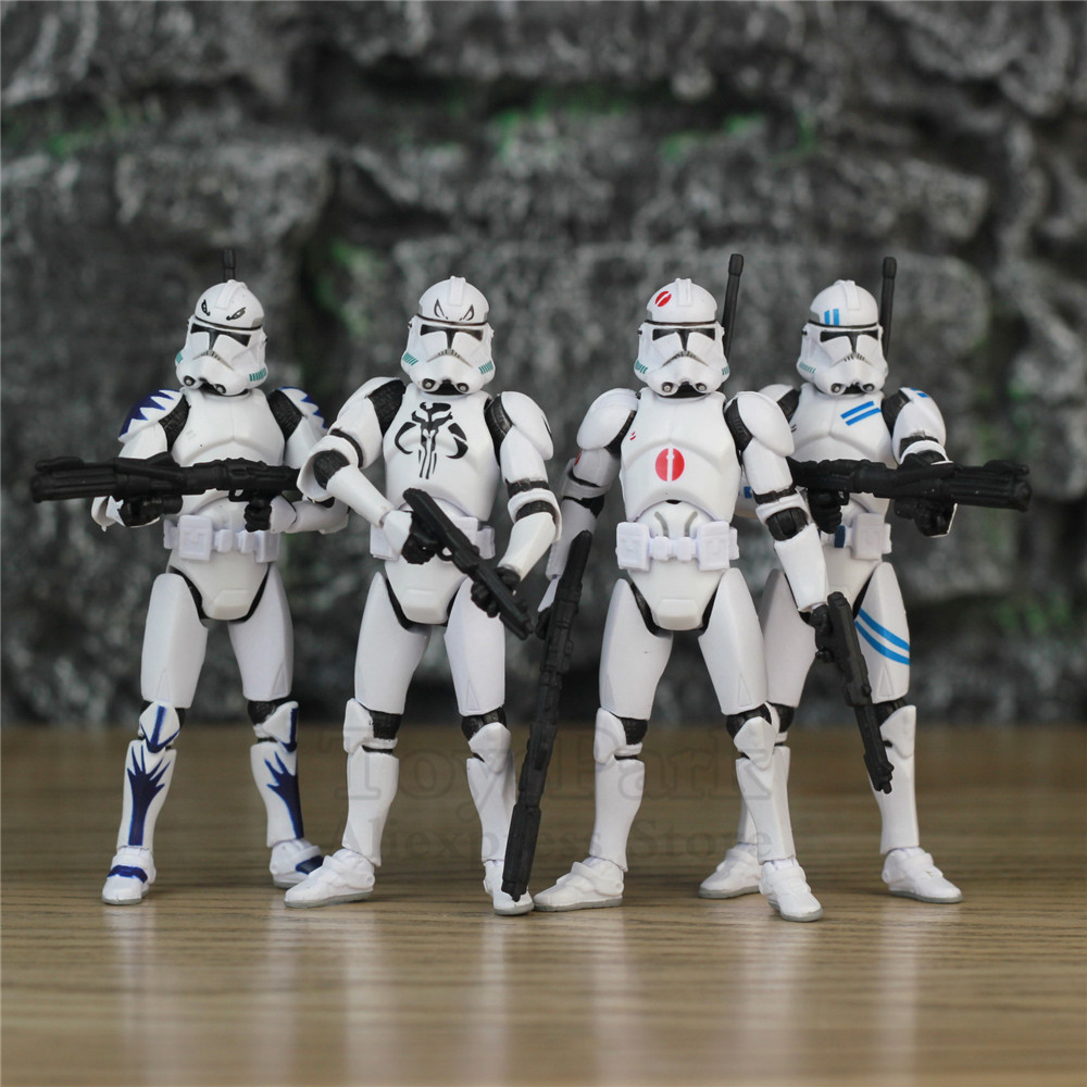 Star Wars 3.75 Trooper Action Figure Republic Elite Forces Legacy Collection Fifth Fleet Sercurity Target Exclusive Red Dot Toy image