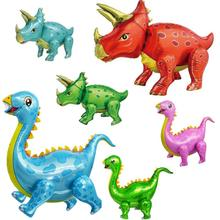 1pc Standing Dinosaur Ballons Birthday Decor Party Supplies Children Boys Baby Shower Toy For Kids 4D Dinosaur Foil Balloons
