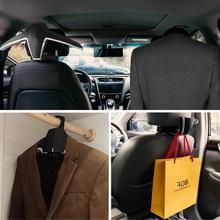 E-FOUR Car Coat Hanger Headrest Back Seat Coat Hanger Multi-functional Car Hanger for Coat Suit Jacket Universal Fit of Vehicles