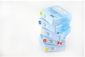 Image 4 - 1500pcs חיזוק תוויות בציר צבעוני טבעת תווית מדבקות עבור מתנה תג חיזוק חור קוטר 13mm