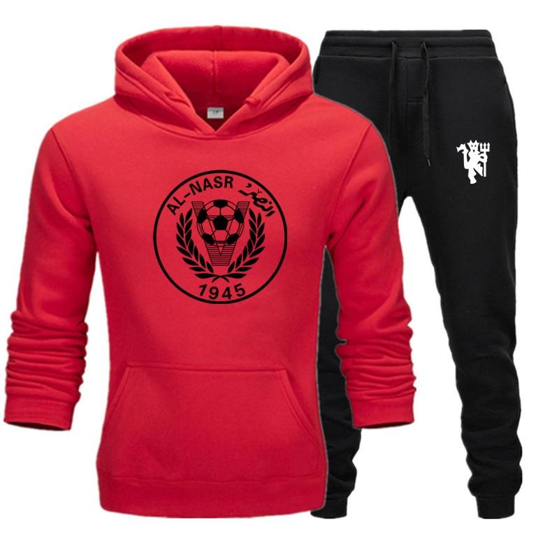 Men's Sets Streetwear Hip Hop Hoodies Sweatshirts Pullover Autumn Sportswear+Pants Casual Men Brand Clothing S-3XL Plus Fleece