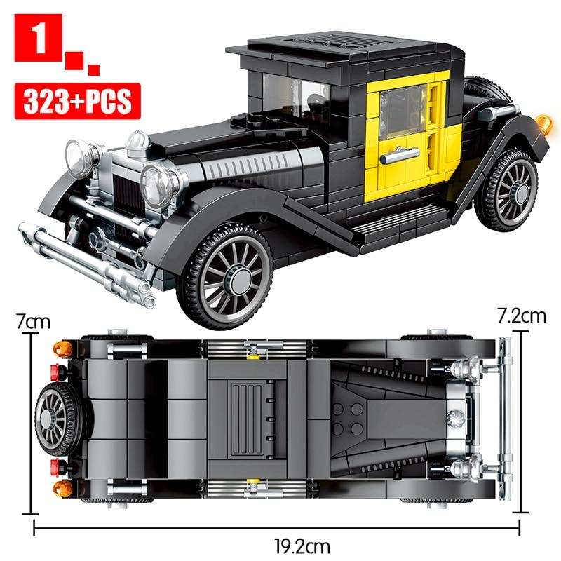 SEMBO Block Technical Classical Convertible Racing Vehicle Building Blocks