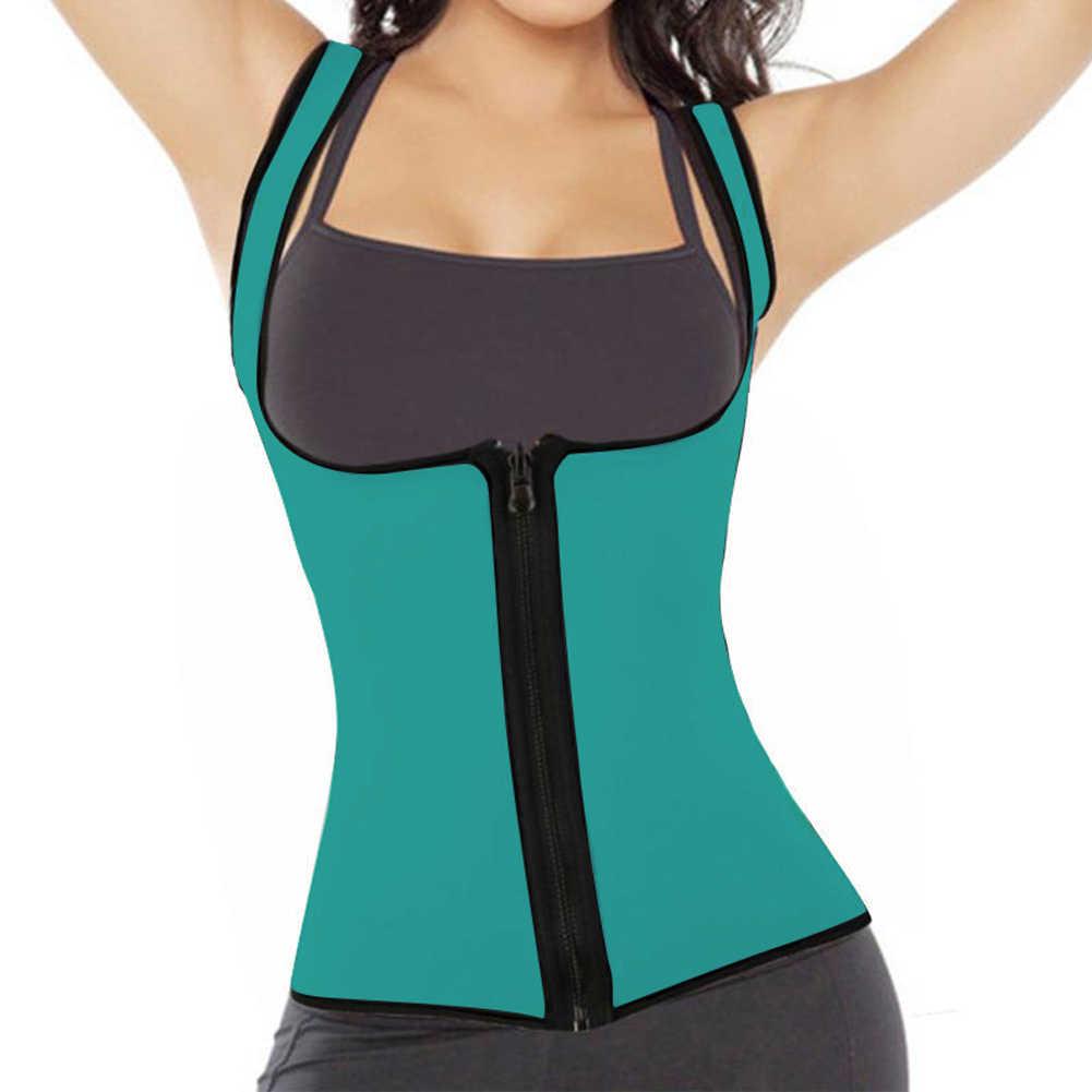 ใหม่ Shapers Neoprene ซาวน่าเหงื่อเสื้อกั๊กเอวเทรนเนอร์ Cincher Women Slimming Trimmer ออกกำลังกายรัดตัว Thermo Push Up โยคะเสื้อ