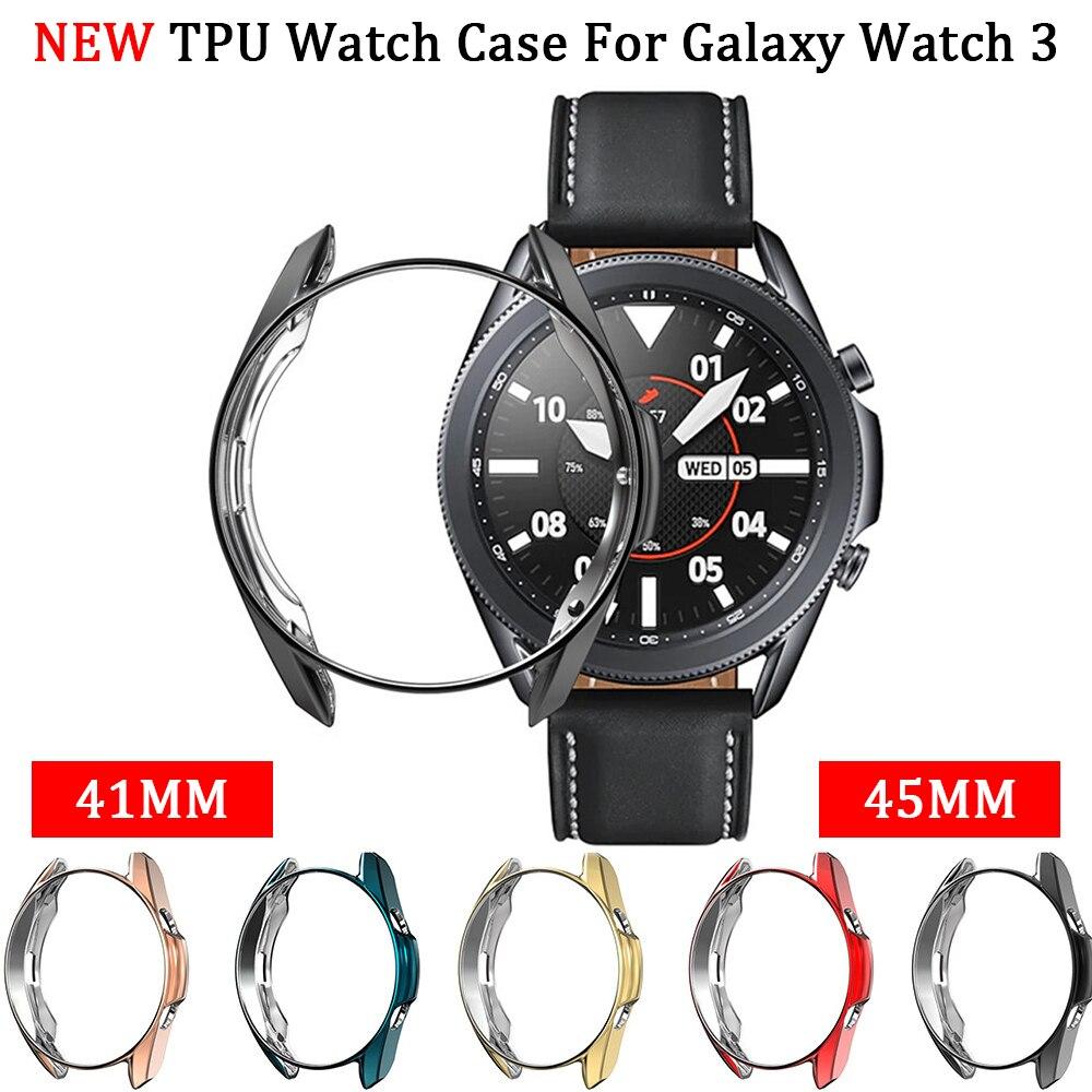 Чехол из ТПУ для Galaxy Watch 4 45 мм 41 мм, силиконовый защитный чехол для часов Samsung Galaxy Watch 3 45 мм 41 мм, аксессуары, чехол-бампер