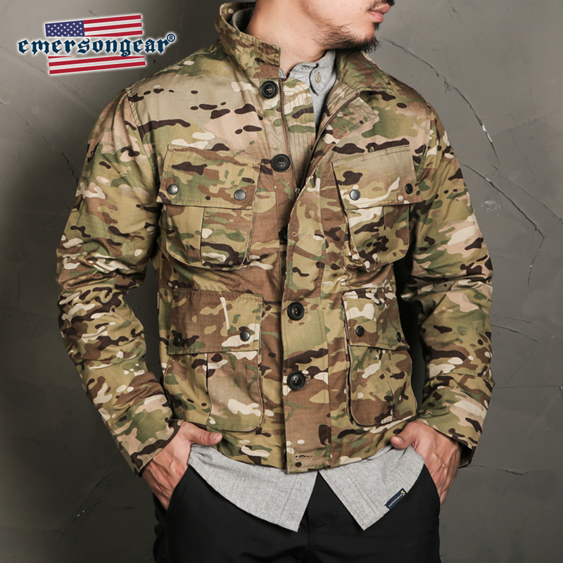 Emersongear Blue Label Tactical Style TCU Thermal Jacket Vogue Nylon Multicam Military Outdoor Hiking Casual Mens Jacket Clothes