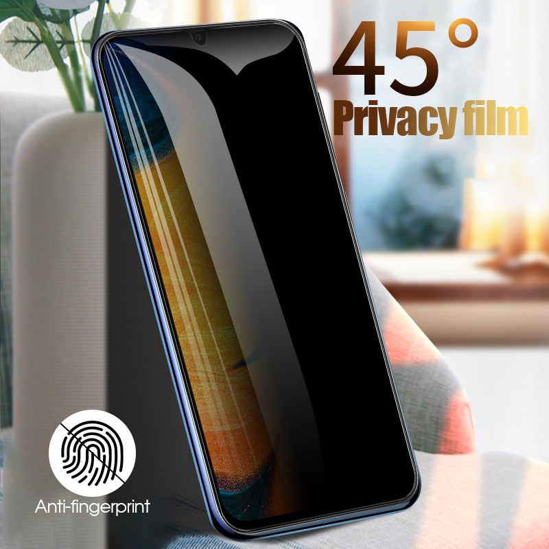 Anti-Spy Peep Tempered Glass For Samsung A50 A70 A60 A40 A30 A20 A10 A10S A80 A71 A51 4G Screen Protector For Samsung A7 A9 2018