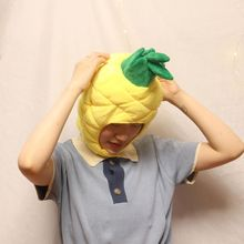 Funny Pineapple Fruit Plush Hat Christmas Cosplay Party Costume Cap Photo Prop 649C