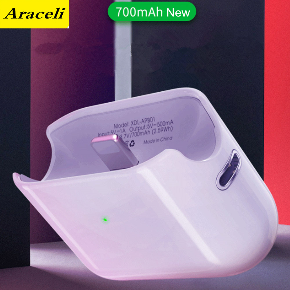 700 Mah Power Bank for Airpods Headset Box For Airpods 1 2 <font><b>Battery</b></font> <font><b>Case</b></font> External Capa For <font><b>Iphone</b></font> <font><b>Battery</b></font> Charger <font><b>Case</b></font> <font><b>Smart</b></font> image