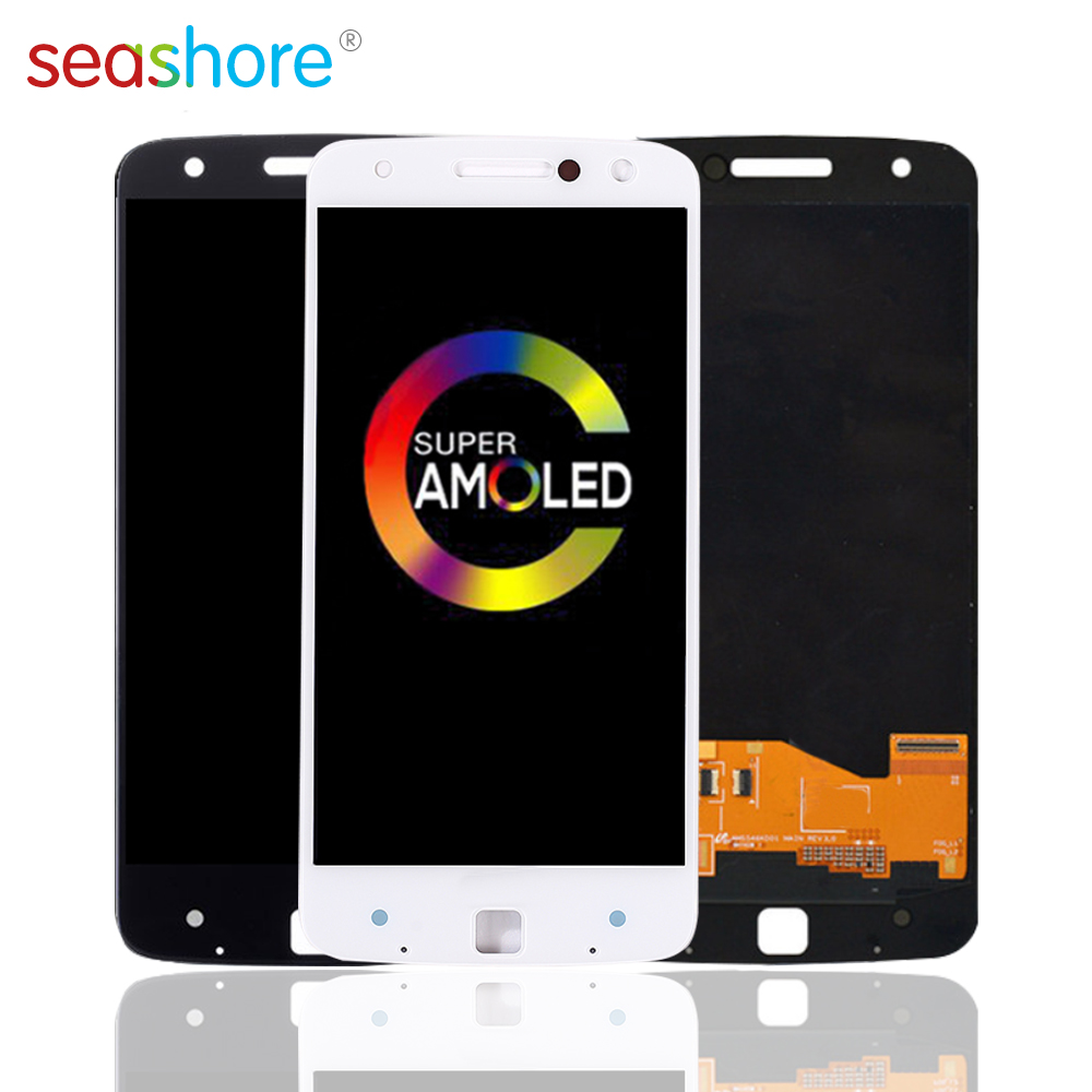ORIGINAL <font><b>LCD</b></font> For Motorola Moto Z Droid Edition <font><b>LCD</b></font> Touch Screen Digitizer Assembly For MOTO Z Display Replacement Parts <font><b>XT1650</b></font> image