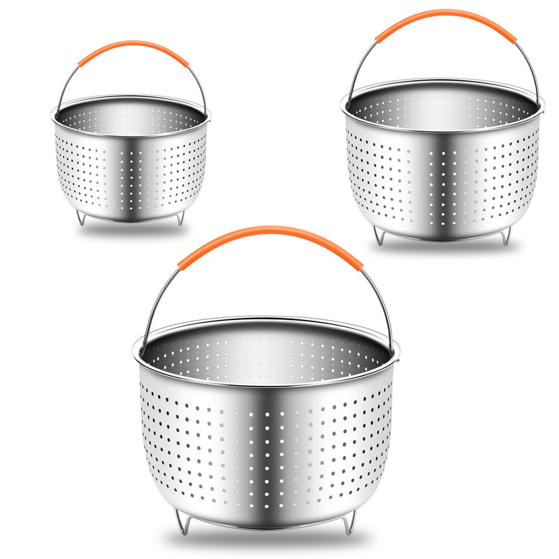 304 Stainless Steel Steam Basket Heat Resistant Rice Cooker Pressure Cooker Steamed Basket Multi-functional Fruit And Vegetable