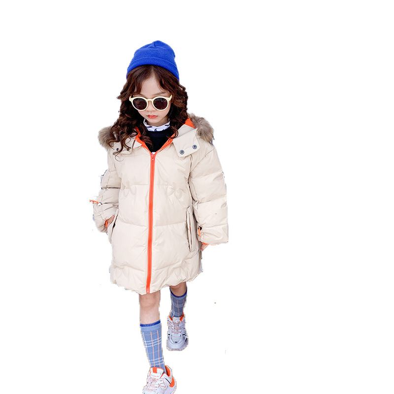 Baby Girls down Jacket 2019 Winter New Style Korean-style Big Boy Letter Collar Thick Western Style down Feather