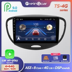 Prelingcar Android 9.0 DSP NO 2 din DVD Car Radio Multimedia Video Player GPS Navigation For HYUNDAI I10 2007 08 09 10 11 12 13(China)