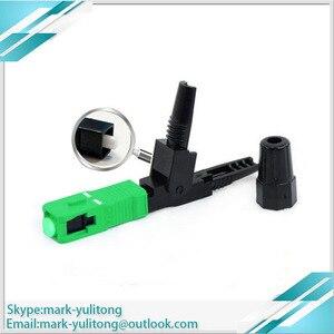 Image 3 - 100PCS FTTH Single Mode SC APC Connector Quick Connector Fiber Optic Quick Connector