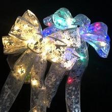 RGB Led light Bowknot Party Decor  Xmas Hanging Ornament   Christmas Decoration  LED DIY Colorful Bow  Decorative Christmas Tree