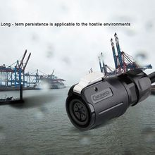LP16 Plastic 2 3 4 5 6 7 8 9 Pin Power Industrial Circular Connector Outdoor IP67 Waterproof for Solar Power and Signal
