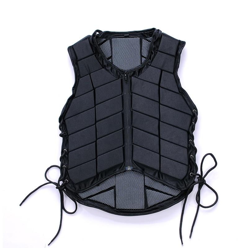Outdoor Equestrian Vest Safety EVA Padded Horse Riding Vest Body Protector Gear Waistcoat Unisex Black For Adult Men Women Kids