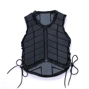 Outdoor Equestrian Vest Safety EVA Padded Horse Riding Vest Body Protector Gear Waistcoat Unisex Black for Adult Men Women Kids