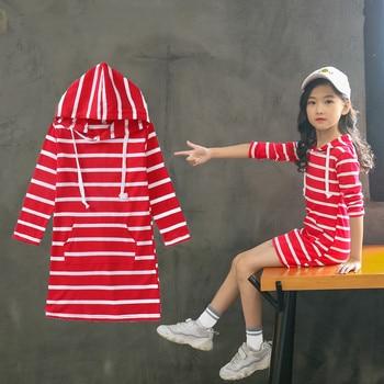 Kids Dress Casual Striped Dress For Teens Girls 10 12 Years Long Sleeve Princess Party Dress Girls Children Clothing Vestido#LR2 pieryoga красный шар йоги дефолт