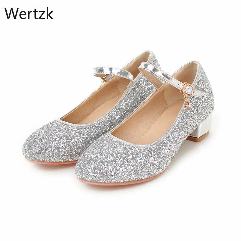 New Womens Chunky Low Heel Comfort