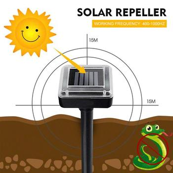 Ultrasonic Rat Repeller 1.2V 600MAH Yard Garden Outdoor ABS Black Eco Friendly Gopher Rodent Control 400-1000(HZ) Solar Energy image