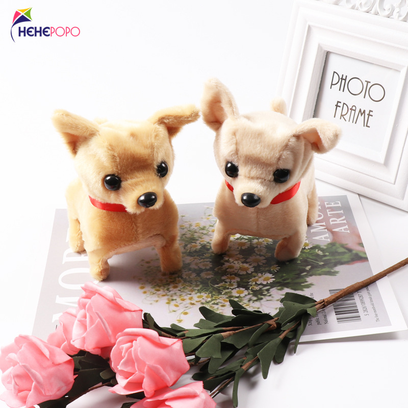 2 Pcs / Set Electric Robot Dog Toy Plush Pet Can Bark Walking Forward And Backward Interactive Toys For Children Lovely Gifts