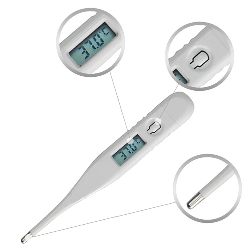 1Pcs Digital LCD Heating Thermometer Tools Kids Baby Child Body Temperature Measurement