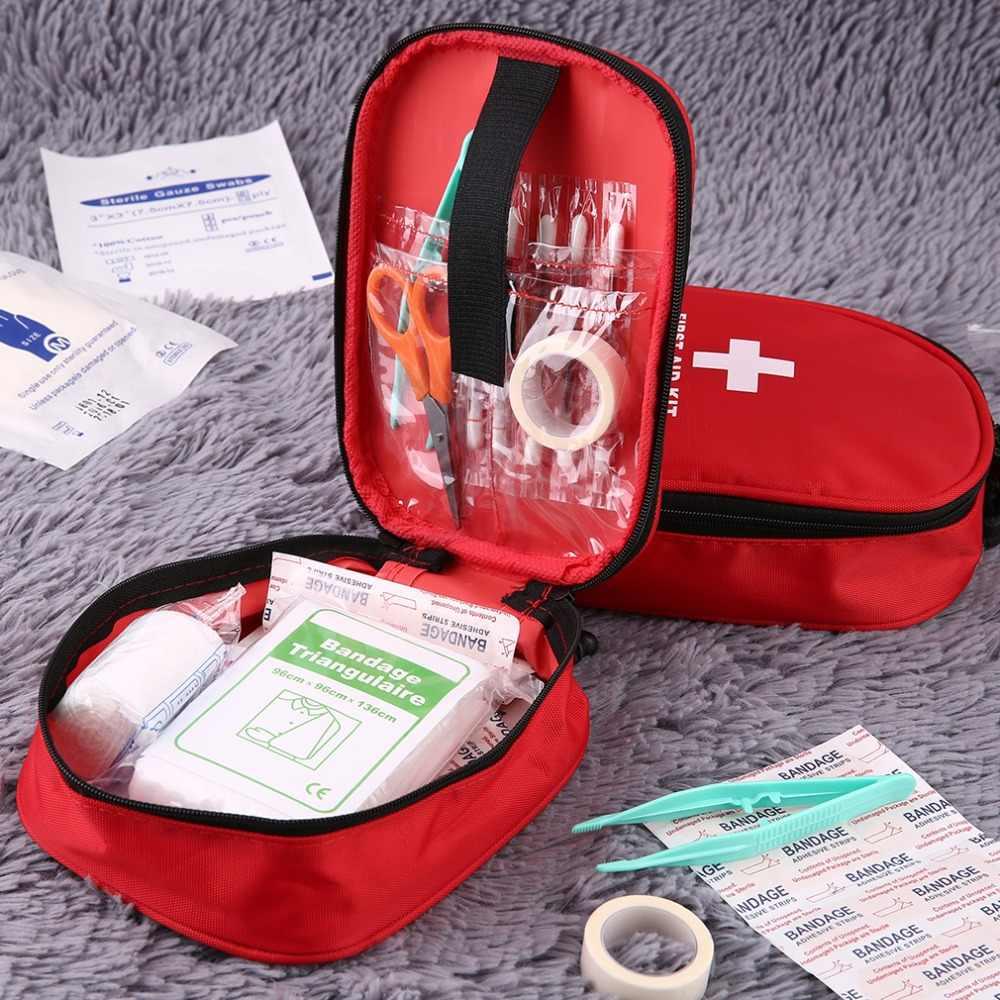 في الهواء الطلق الطوارئ حقيبة طبية المنزل التخييم الأولى الإيدز أطقم حقيبة الانقاذ عالية الكثافة ripstop للماء الأقمشة