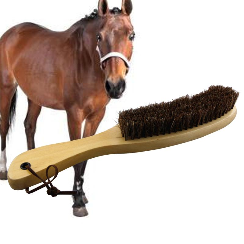 Soft Horsehair Brush Wooden Handle Cleaning Brush For Furniture Clothes Coat Suit Lint Clothes 27.5 X 4 X 4cm