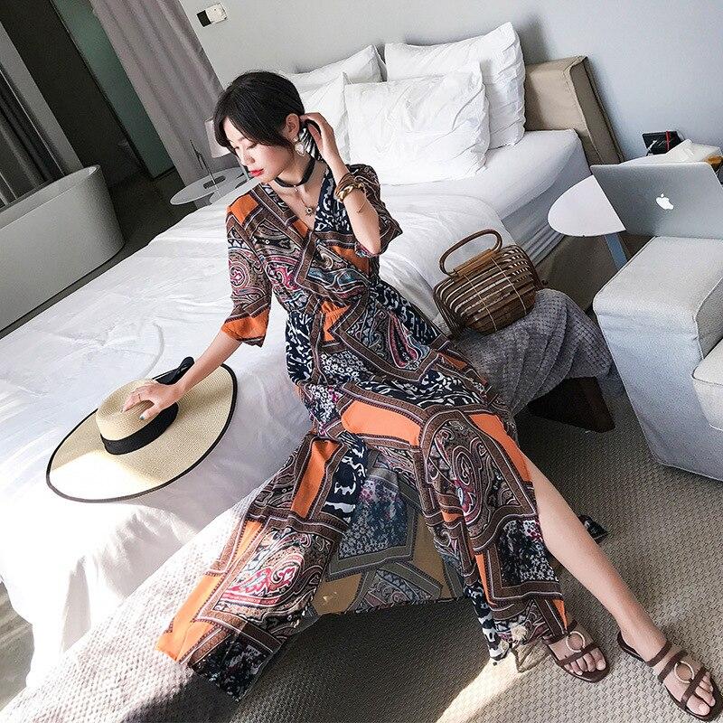 Photo Shoot Bali Beach Long Skirts Women's Summer Hainan Sanya Thailand Seaside Holiday Slimming Chiffon Dress