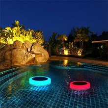 Binval RGB LED Solar Underwater Light Pond Outdoor Swimming Pool Floating Waterproof Fountain Lamp with Remote Control
