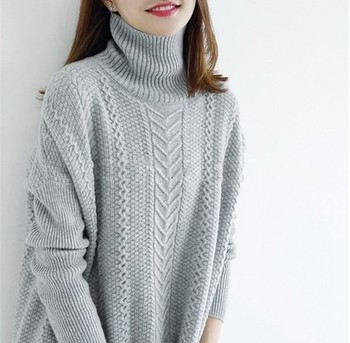 Thick Warm Women Turtleneck 2020 Winter cashmere Sweaters And Pullovers Knit Long Sleeve wool Sweater Female Jumper