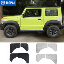 MOPAI Styling Mouldings for Jimny JB74 Car Front Rear Leaf Plate Protection Decoration Cover for Suzuki Jimny 2019+ Accessories