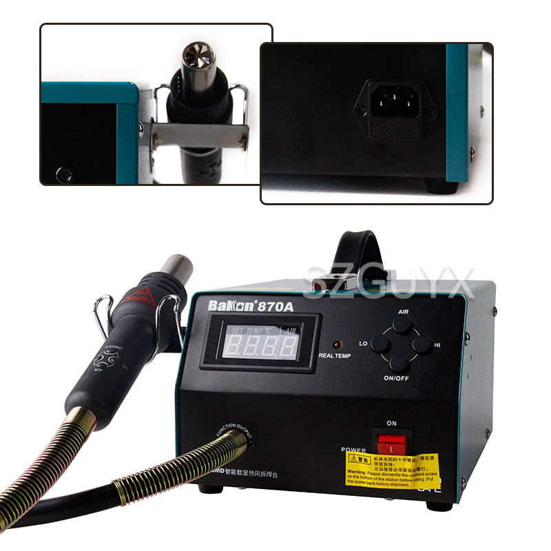Dual Temperature Control Intelligent Digital Display Constant Temperature Hot Air Gun Desoldering Station