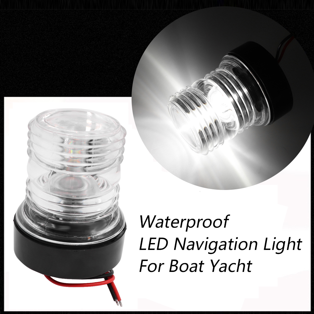 12V Waterproof Marine Boat Yacht 6300K 360 Degree All Round LED Navigation Light Anchor Lamp Boat Accessories