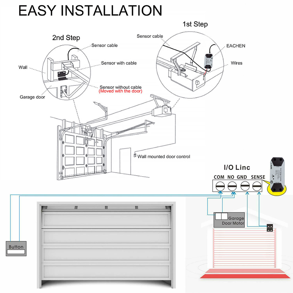 H942e4c5e1aca43b2b300c703a13da8fdH Wofea WiFi Switch Smart Garage Door Opener Controller Work With Alexa Echo Google Home SmartLife/Tuya APP Control No Hub Require