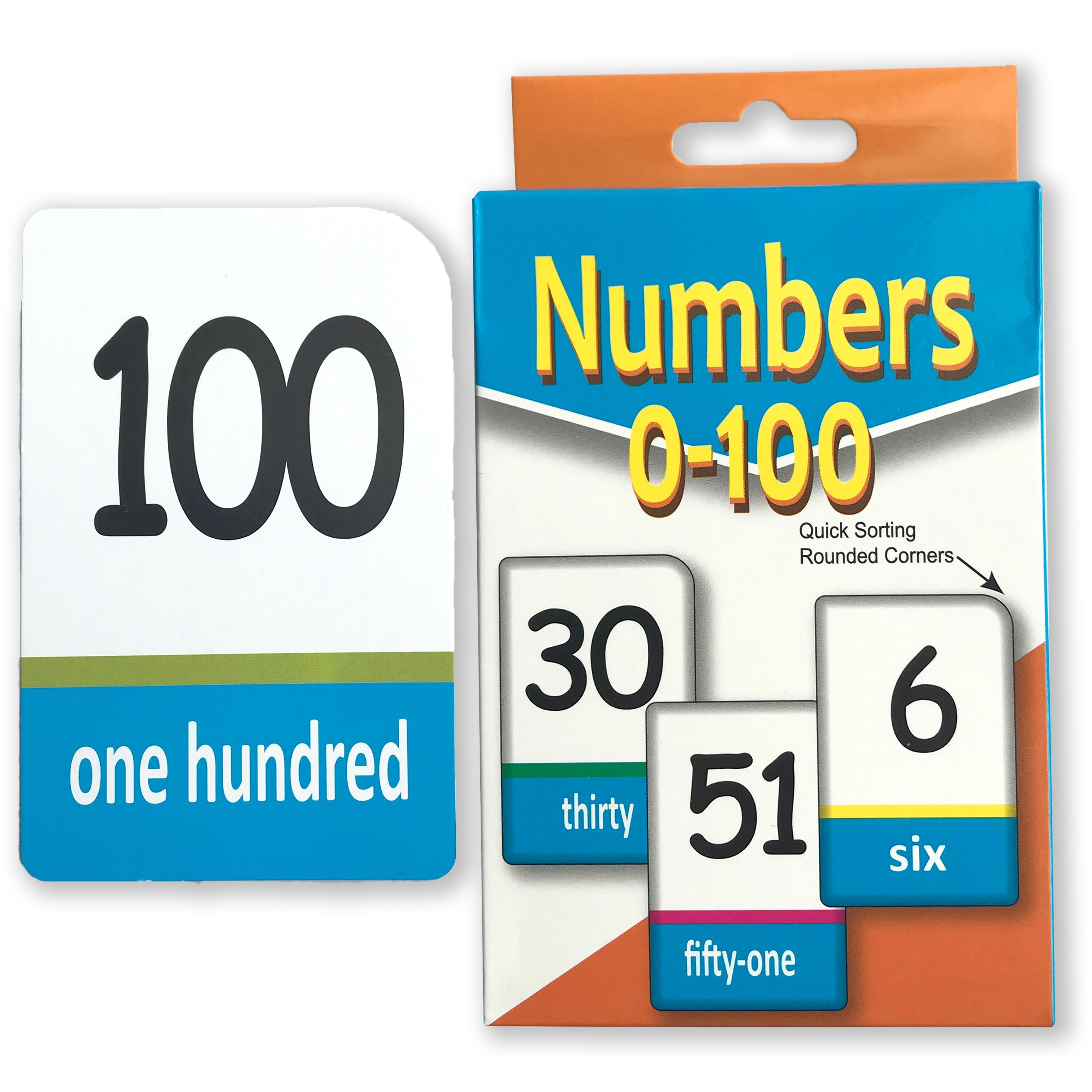Двусторонняя печать цифр-карт 0-100, 51 лист для раннего развития детей