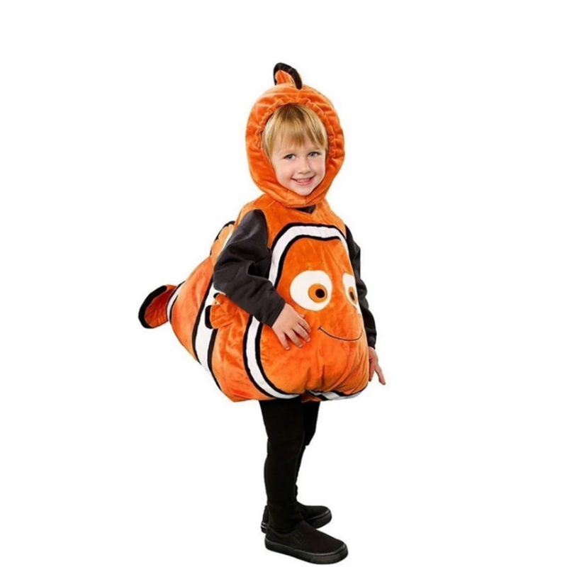 Toddler Kids Anime Nemo Cosplay Costume Animal Clownfish For Little Boys Girls Halloween Carnival Christmas Cosplay Dress Up