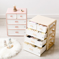 Drawer underwear storage cabinet plastic stackable storage cabinet underwear socks box bra finishing box WF8201021