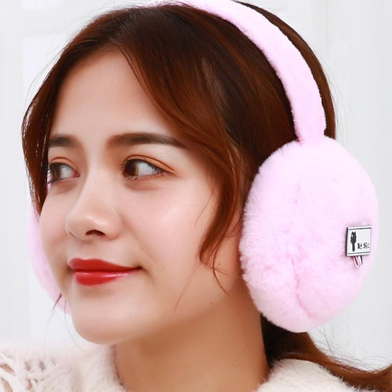 New Plush Earmuffs For Women Winter Ear Muff Cute Ear Warmer Girls Ear Cover Soft Earflaps Christmas Gifts