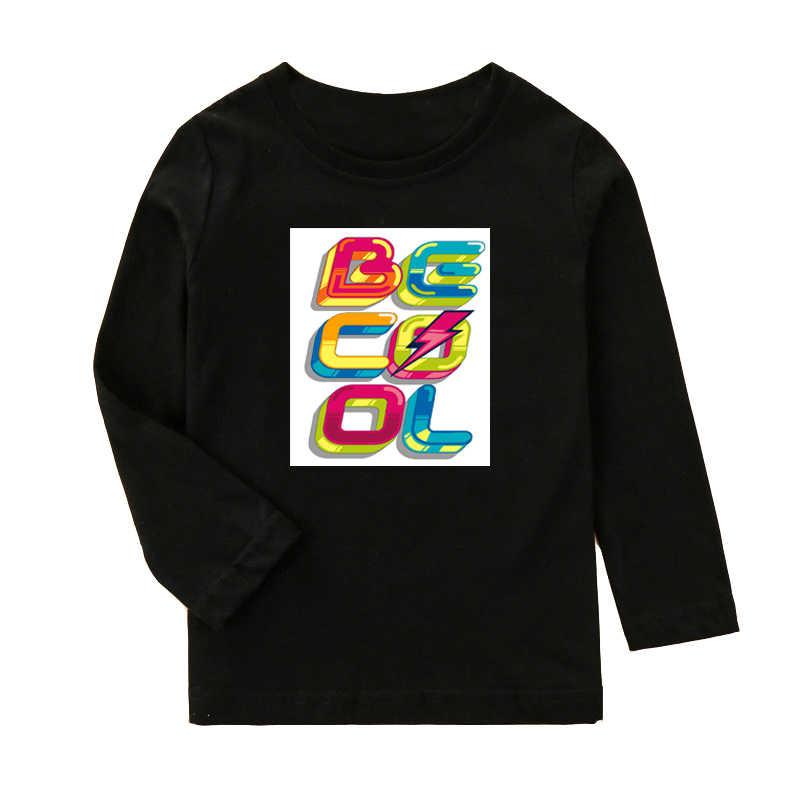 الفتيان تي شيرت مع الكرتون المطبوعة الاطفال طويل كم T قميص للأولاد الفتيات أعلى المحملات الخريف الربيع القطن الأطفال الملابس