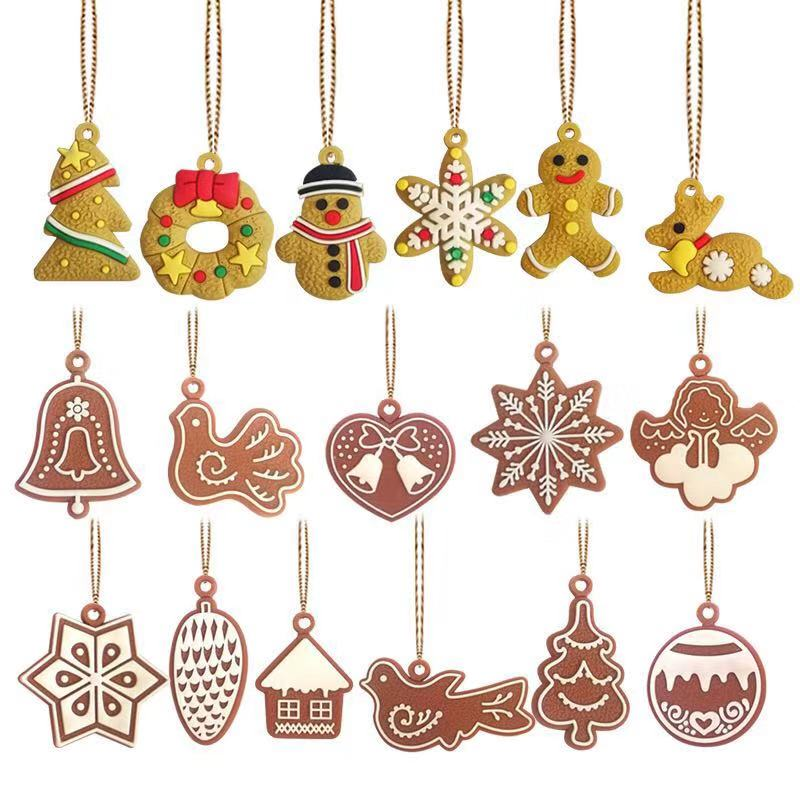 11pcs/lot Christmas Tree Decor Cute Bauble Xmas Party Hanging Toys Ornament Decorations For Home Christmas Decorations Gift