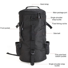 Winter Outdoor Fishing Bag Polyester Fabric Zippers Fish Tackle Storage Multifunctional Bags Ice Angling Accessories