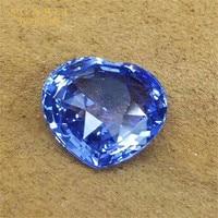 statement gemstone jewelry customization 6.57ct Sri Lanka natural unheated cornflower blue sapphire loose stone