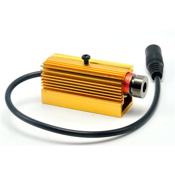 Focusable 650nm 50mw Red Dot Laser Diode  LED Module 13x42mm w/ 5V Adapter & Heatsink focusable 5mw 650nm red laser diode dot line led module 13x42mm w 5v adapter