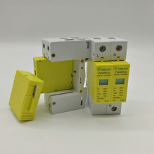 DC 1000V 500V 20KA~40KA 2 P 2 pole SPD House Surge Protector Protective Low-voltage Arrester Device 35mm din rail стоимость