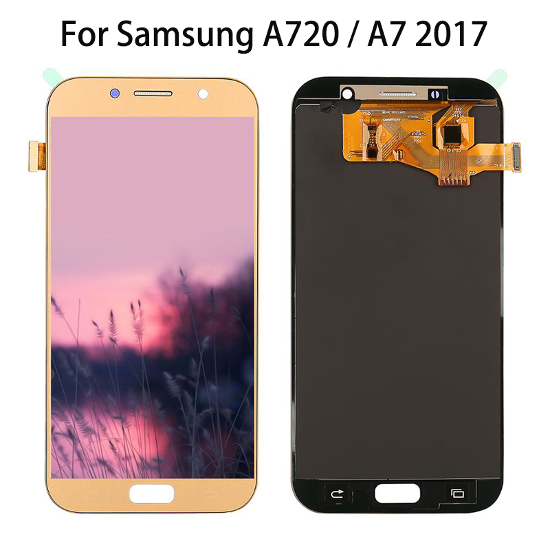 5.7 inch For <font><b>Samsung</b></font> Galaxy A7 2017 A720 <font><b>A720F</b></font> A720M A720S LCDs Display Touch <font><b>Screen</b></font> Digitizer Assembly LCD Replacement Parts image