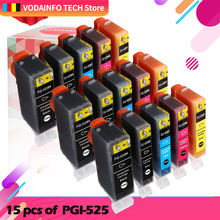15 шт для canon pgi 525 cli 526 чернильный картридж принтера