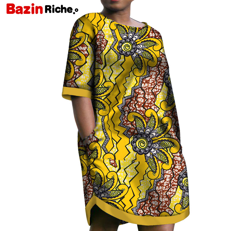 2020 Low Price African Short Dresses for Women Casual Dashiki African Print Clothing Plus Size Christmas Loose Dress WY5541