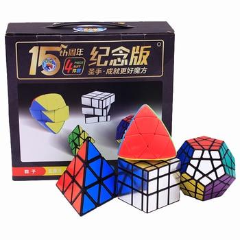 4PCs/set Moyu Gift Pack Strange-Shape Magic Cube Puzzle Toy Rice Pyramid Megaminx Cube Instruction Funny Toys For Children Adult 1