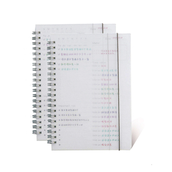PP coil book simple Notebook Schedule daily plan book Loose-leaf book Portable learning notebook stationery office book Supplies